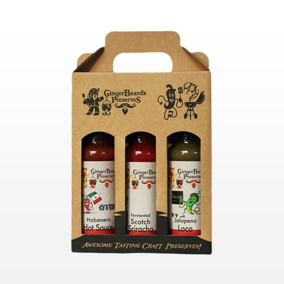 Hot sauce collection gift box