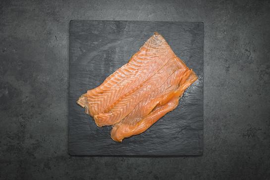 Salmon smoked sliced