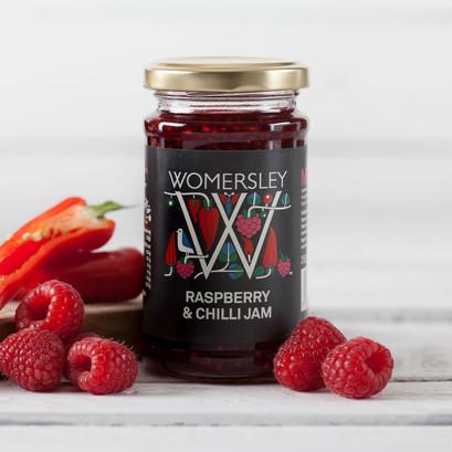 Raspberry chilli jam lifestyle square