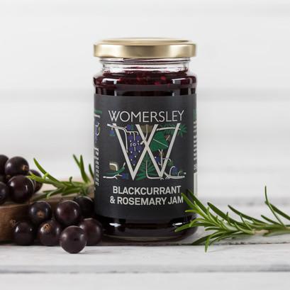 Blackcurrant rosemary jam lifestyle square