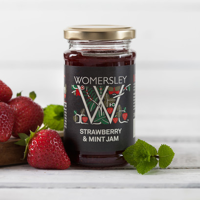Strawberry mint jam lifestyle square