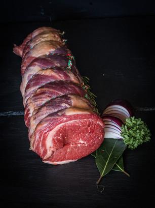 Beef brisket rolled