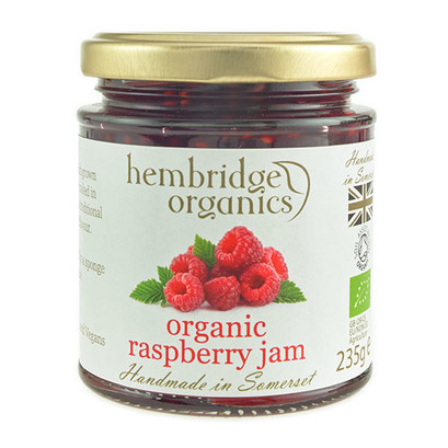 Hembridge organics raspberry jam jar 01