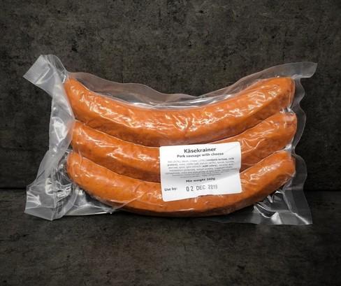 Kasekrainer pork sausage with cheese