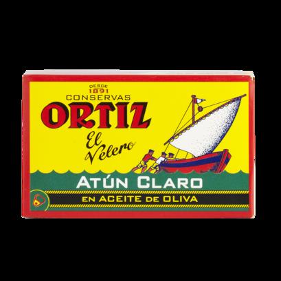 Fi01621 ortiz atu%cc%81n claro tuna fillet in olive oil ventresca oval tin brindisa