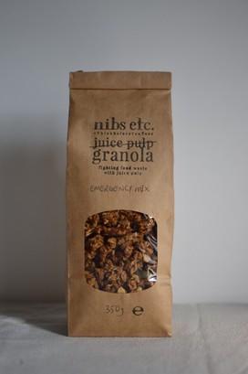 Nibs etc. emergency mix pulp less granola