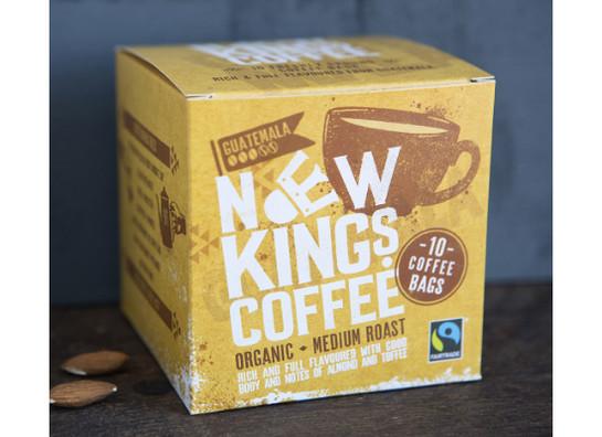 New kings coffee bags fairtrade organic medium roast 10 v1