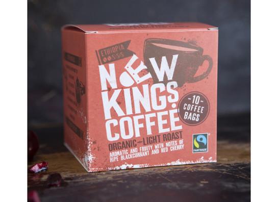 New kings coffee bags fairtrade organic light roast 10 v1