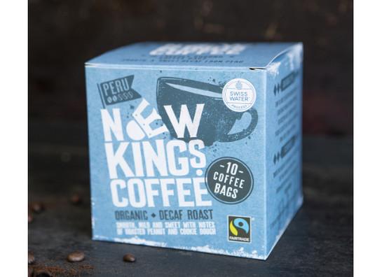 New kings coffee bags fairtrade organic decaf roast 10 v1