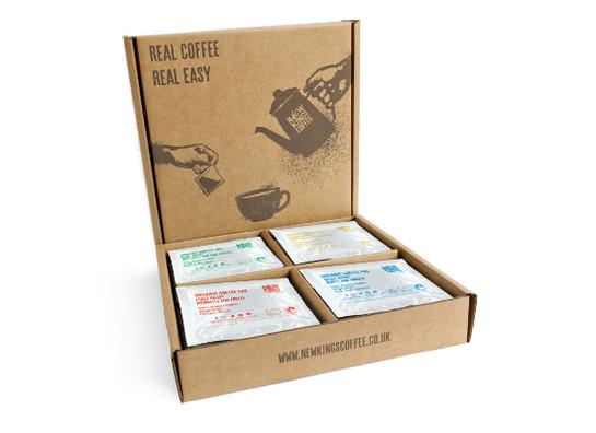New kings coffee bags fairtrade organic selection box 16