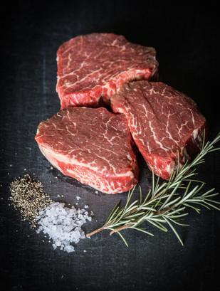 Beef filet steaks