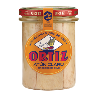 Fi01670 ortiz atun claro tuna fillet in olive oil jar brindisa