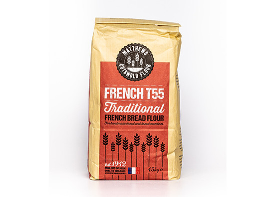 French bread flour t55 front