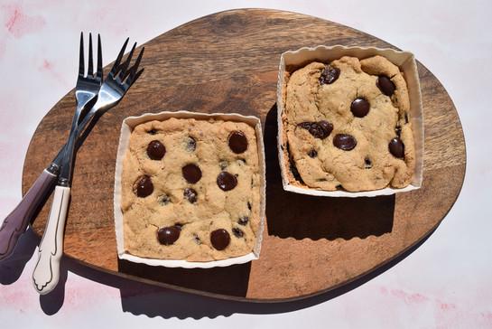 Cookie dough top