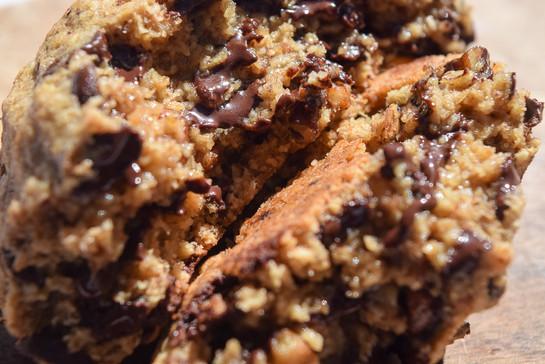 Gf choc chip pecan closeup